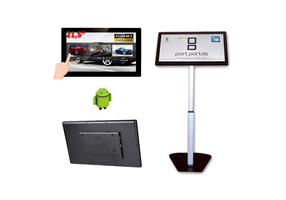 "RETAIL TABLET 21.5"" ANDROID CON PEANA DE SUELO"