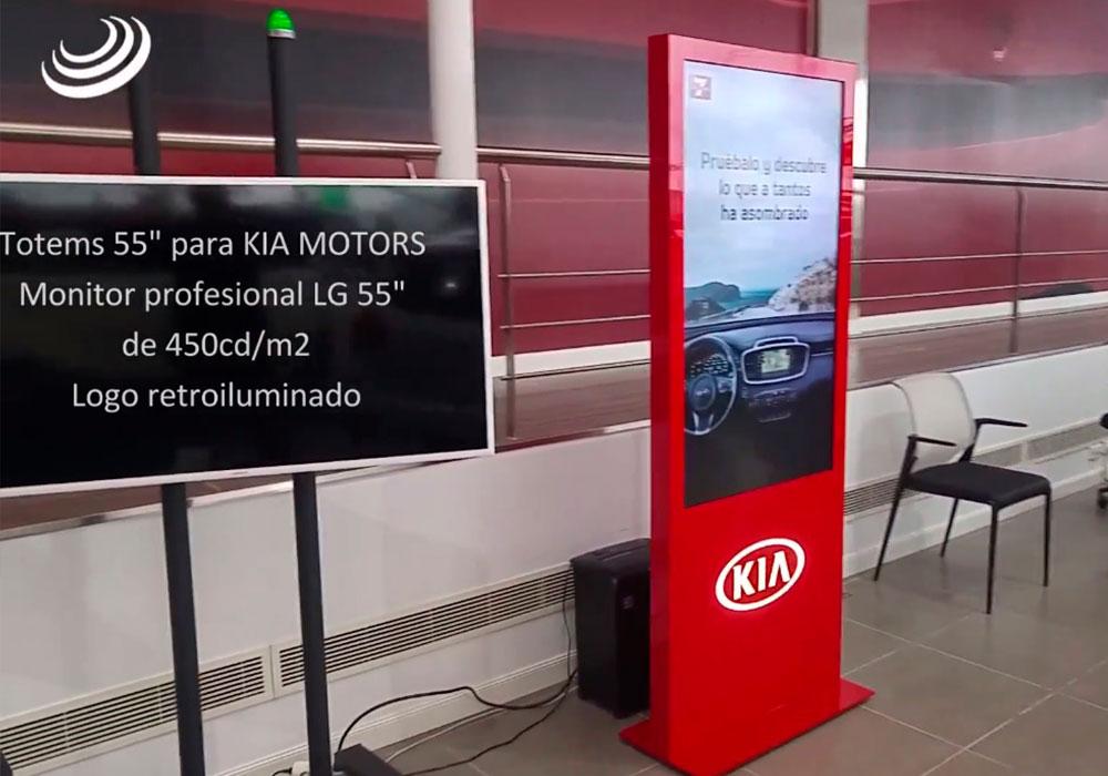"""Tótems 55"""" para los Concesionarios KIA MOTORS"""