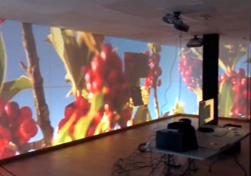 Mapping de 20m con 5 proyectores en blending