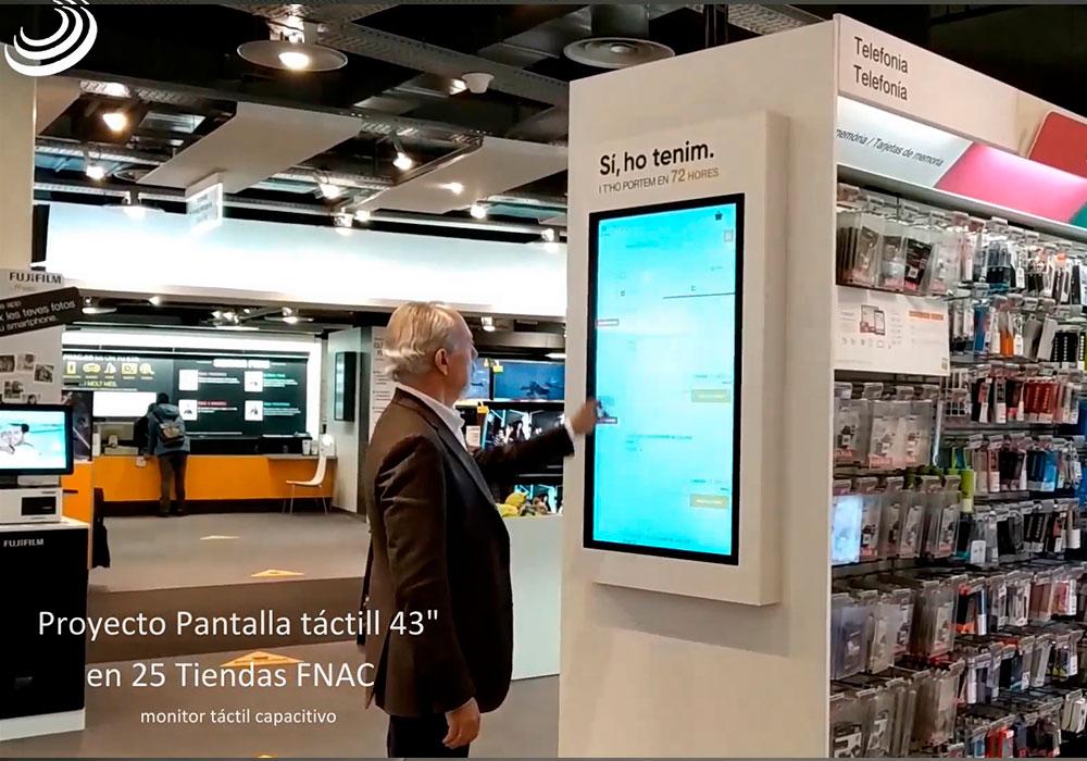 25 pantallas táctiles en FNAC