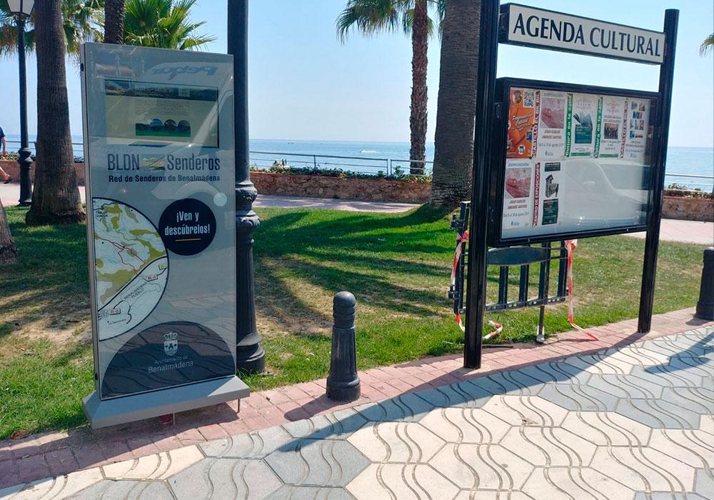 """8 Totems Táctiles de Exterior 22"""" Proyecto suministrado por uno denuestros partners al Ayuntamiento de Benalmádena, 8 totems táctiles outdoor de 22"""" para información de rutas turísticas."""