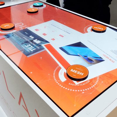 Lámina interactiva Displax Reconocimiento de objetos